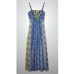 RANNA GILL Sunburst Maxi Dress Beaded
